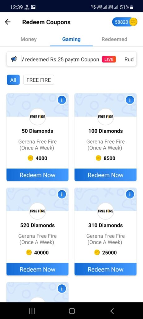 How to get free fire diamonds using rooter app