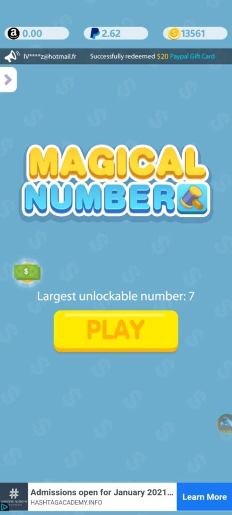 Magical number app to earn free fire diamonds