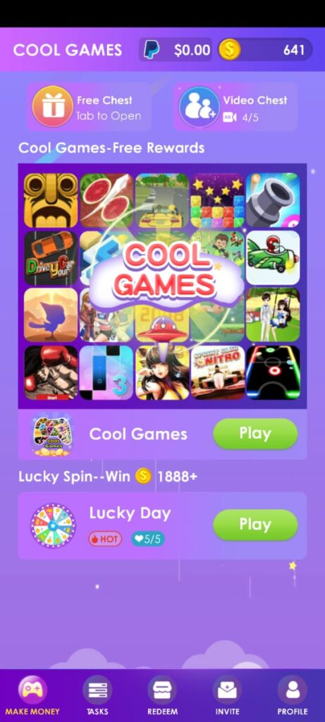 Earn free fire diamonds cool games app