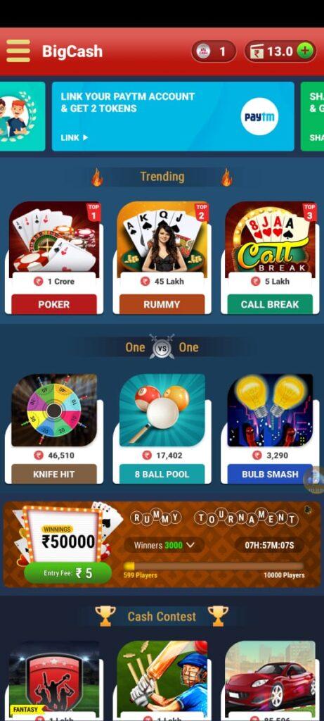Big cash live app to get game coins
